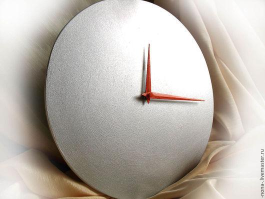 """Часы для дома ручной работы. Ярмарка Мастеров - ручная работа. Купить Часы """"Ничего лишнего"""". Handmade. Часы настенные, серебристый"""
