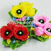 Материалы для творчества handmade. Livemaster - original item Silicone molds for soap Bouquet of poppies. Handmade.