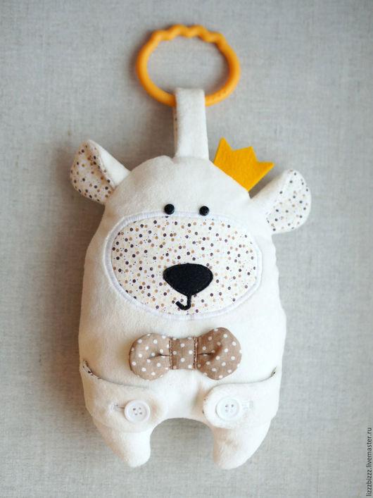 """Развивающие игрушки ручной работы. Ярмарка Мастеров - ручная работа. Купить Сенсорная игрушка """"Белый Мишка"""". Handmade. Медвежонок, игрушка"""