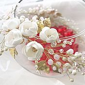 """Веночек """"Белые цветы"""""""
