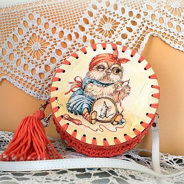 Bags and accessories handmade. Livemaster - original item Handbag Owl-embroiderer. Handmade.