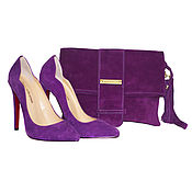 Обувь ручной работы. Ярмарка Мастеров - ручная работа Набор туфли +клатч Индиго. Handmade.