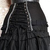 Одежда ручной работы. Ярмарка Мастеров - ручная работа Хлопковая юбка со шнуровкой. Handmade.