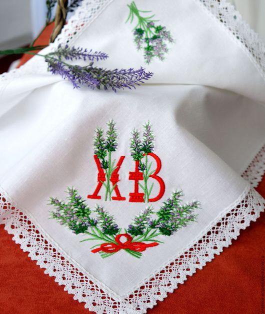 Подарки на Пасху ручной работы. Ярмарка Мастеров - ручная работа. Купить Пасха в стиле Прованс- салфетка льняная - две вышивки. Handmade.