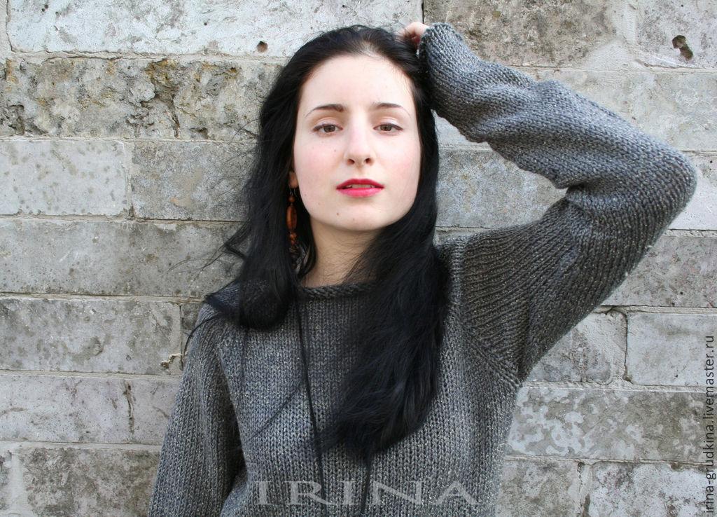 Вязаные женские свитера регланом доставка