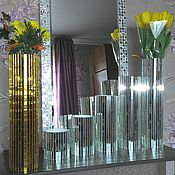 Stained glass handmade. Livemaster - original item The composition of the vases and mirror. Handmade.