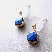 Earrings handmade. Livemaster - original item Earrings with natural lapis lazuli. Handmade.