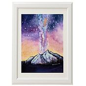 Картины и панно handmade. Livemaster - original item The watercolor Vivid space scenery. Handmade.