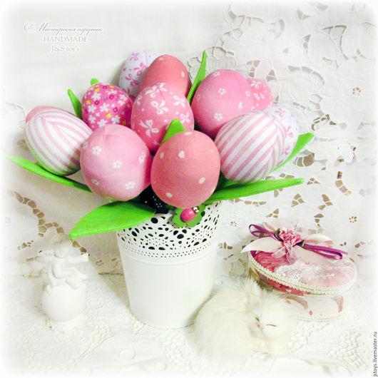 """Цветы ручной работы. Ярмарка Мастеров - ручная работа. Купить Текстильные тюльпаны """"Розовая коллекция"""". Handmade. Розовый, текстильные тюльпаны"""