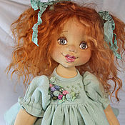 Куклы и игрушки handmade. Livemaster - original item Jeanette. Author`s textile doll.. Handmade.