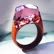 Украшения handmade. Livemaster - original item Wooden ring the Diamond of my heart. Handmade.