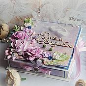 Подарки ручной работы. Ярмарка Мастеров - ручная работа Коробочка-открытка для денег на свадьбу. Handmade.