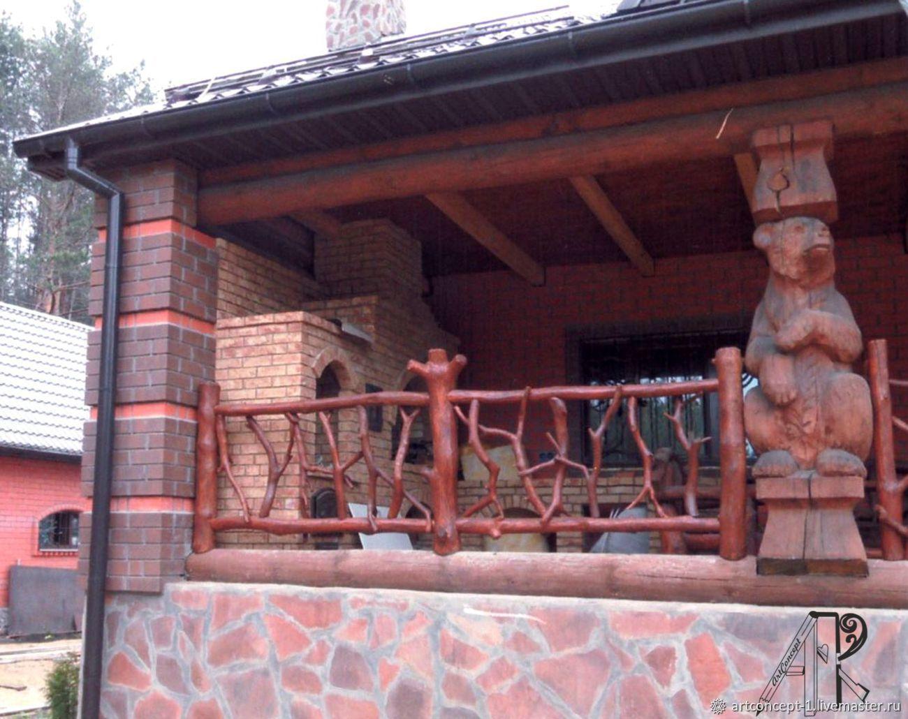 Wooden garden Park sculpture made of solid wood to order, Garden figures, Ryazan,  Фото №1