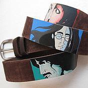 handmade. Livemaster - original item The BEATLES No. 3 leather belt. Handmade.