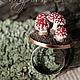 """Кольца ручной работы. Ярмарка Мастеров - ручная работа. Купить Кольцо """"Мухоморчики"""" миниатюра из полимерной глины. Handmade. Красный, грибы"""