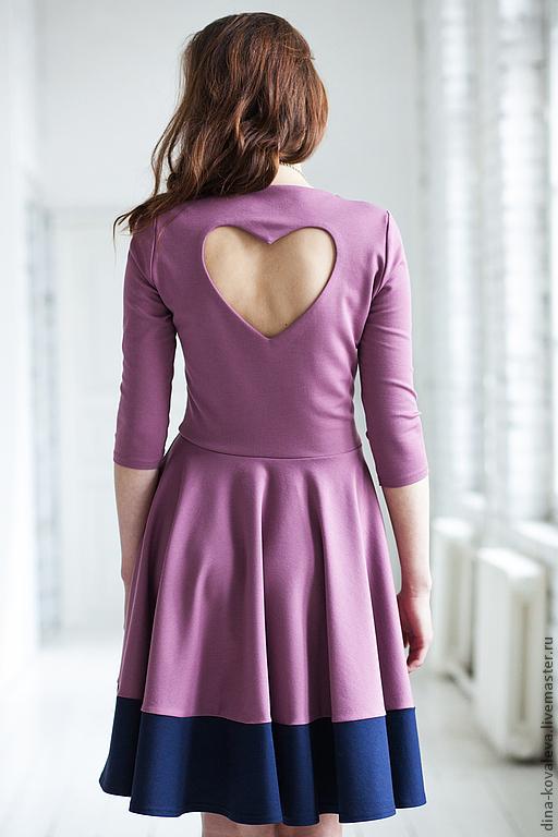 Платья ручной работы. Ярмарка Мастеров - ручная работа. Купить Черничное платье. Handmade. Розовый, интересное платье, весна