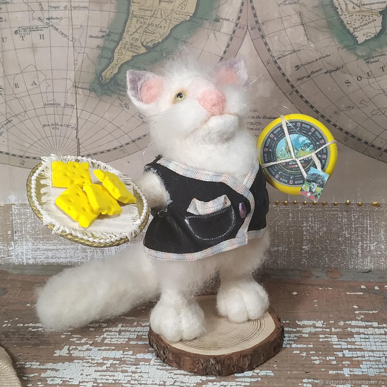 Швейцарский кот-сыродел, Войлочная игрушка, Томск,  Фото №1