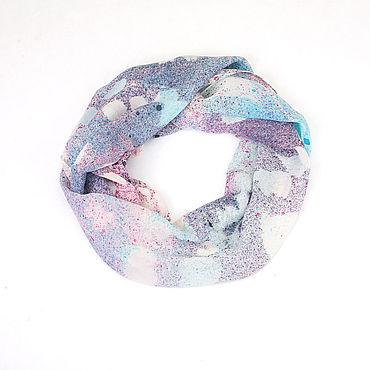 Accessories. Livemaster - original item Scarf lilac silk