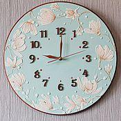 Для дома и интерьера ручной работы. Ярмарка Мастеров - ручная работа Часы Королевская магнолия. Handmade.