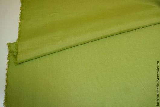 Шитье ручной работы. Ярмарка Мастеров - ручная работа. Купить Ткань Шелк сорочечный салатовый PRT 13041613 Италия Цена за метр. Handmade.