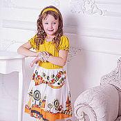 """Работы для детей, ручной работы. Ярмарка Мастеров - ручная работа Веселое платье для девочки """"Пряничный городок"""". Handmade."""