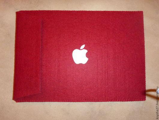 """Сумки для ноутбуков ручной работы. Ярмарка Мастеров - ручная работа. Купить Чехол для MacBook Air 13 """". Handmade. Бордовый"""