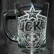 Посуда handmade. Livemaster - original item CSKA. Beer mug. Handmade.