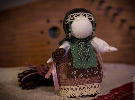 """Народные куклы ручной работы. Ярмарка Мастеров - ручная работа. Купить Кукла-оберег """"Лесная Долюшка"""". Handmade. Зеленый"""