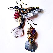 Украшения handmade. Livemaster - original item Asymmetric earrings