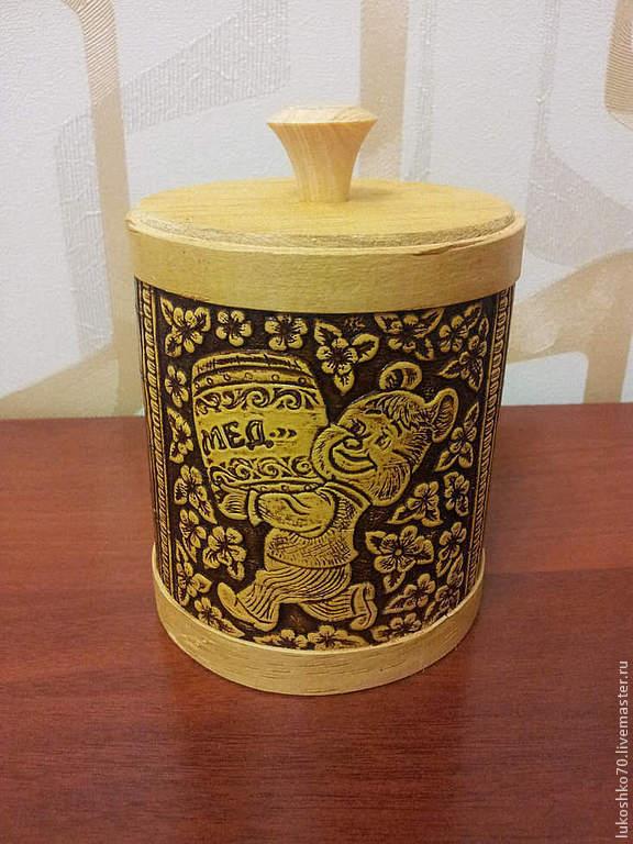 """Туес из бересты для меда """"Олимпийский мишка"""". Бочонок для меда, Utensils, Tomsk,  Фото №1"""