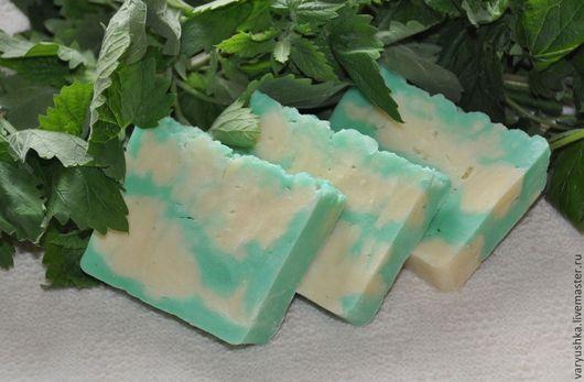 Мыло ручной работы. Ярмарка Мастеров - ручная работа. Купить «Освежающее» натуральное мыло ручной работы. Handmade. Натуральное мыло