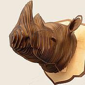 """Для дома и интерьера ручной работы. Ярмарка Мастеров - ручная работа """"Трофей"""" - Носорог. Handmade."""