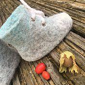 Работы для детей, ручной работы. Ярмарка Мастеров - ручная работа Валяные шерстяные пинетки- ботинки для малышей, эко обувь для детей. Handmade.