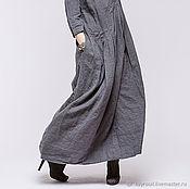 Одежда ручной работы. Ярмарка Мастеров - ручная работа Бохо платье 4-7 графит. Handmade.