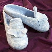 Slippers handmade. Livemaster - original item Women`s felted Slippers. Handmade.