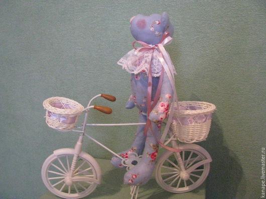 Куклы Тильды ручной работы. Ярмарка Мастеров - ручная работа. Купить Винтажный мишка. Handmade. Голубой, подарок женщине