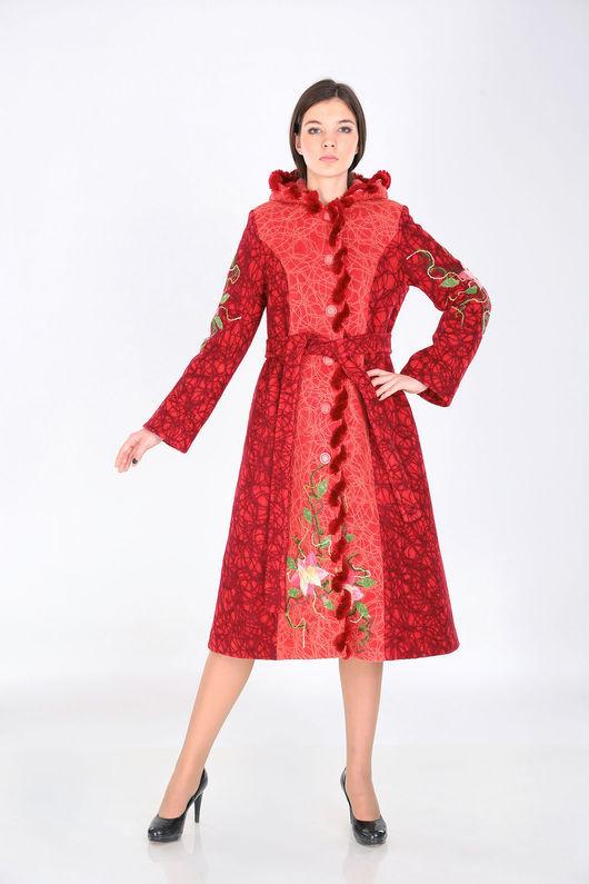 Верхняя одежда ручной работы. Ярмарка Мастеров - ручная работа. Купить Пальто зимнее ПЗ 04. Handmade. Тёмно-синий