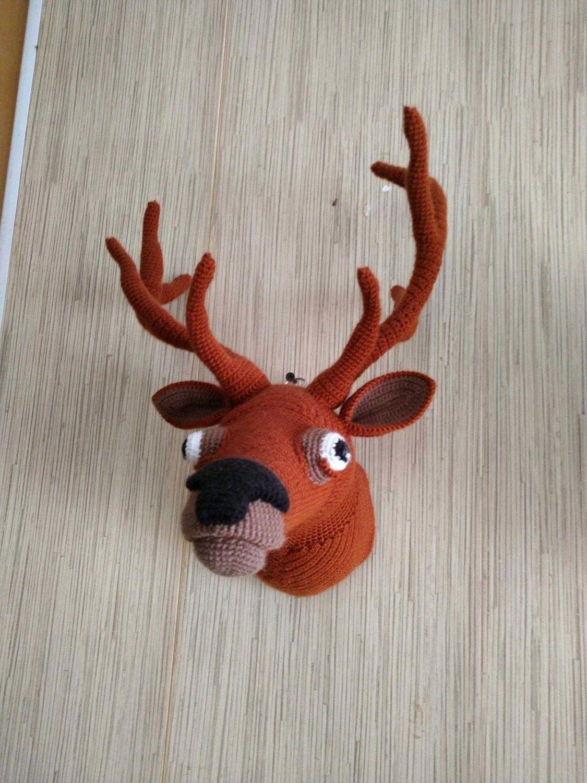 Голова оленя, вязаная игрушка, Игрушки, Краснодар,  Фото №1