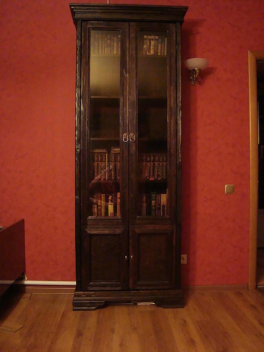 Мебель ручной работы. Ярмарка Мастеров - ручная работа. Купить книжный шкаф. Handmade. Мебель ручной работы, шкаф, морилка