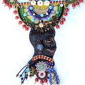 Украшения ручной работы. Ярмарка Мастеров - ручная работа Яркое украшение на лето,подарок девушке, Африка, Женщина из Эфиопии.... Handmade.