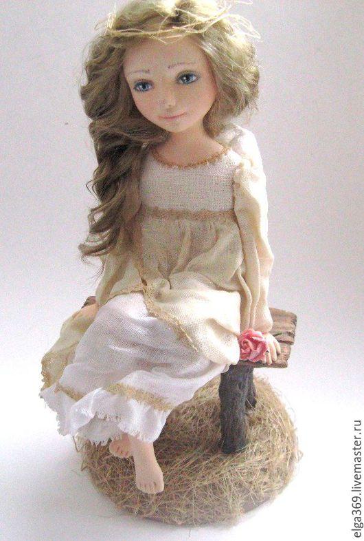 Коллекционные куклы ручной работы. Ярмарка Мастеров - ручная работа. Купить Авторская кукла ангел Ангелёнушка: о чем мечтаешь ты?... Handmade.
