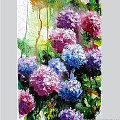 handmade. Livemaster - original item Painting Watercolor hydrangea. Handmade.