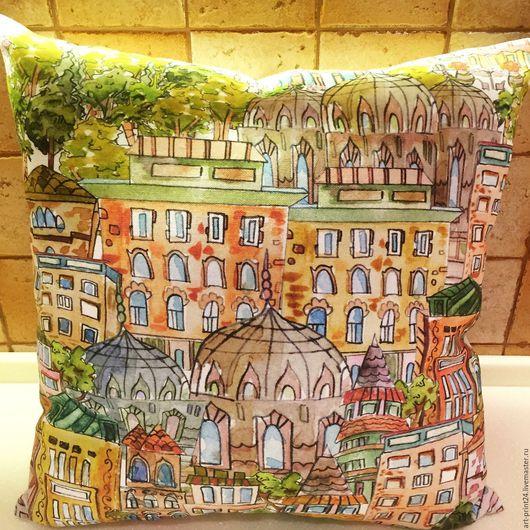 Текстиль, ковры ручной работы. Ярмарка мастеров - ручная работа. Купить декоративная подушка. Handmade. Белоснежный лен.