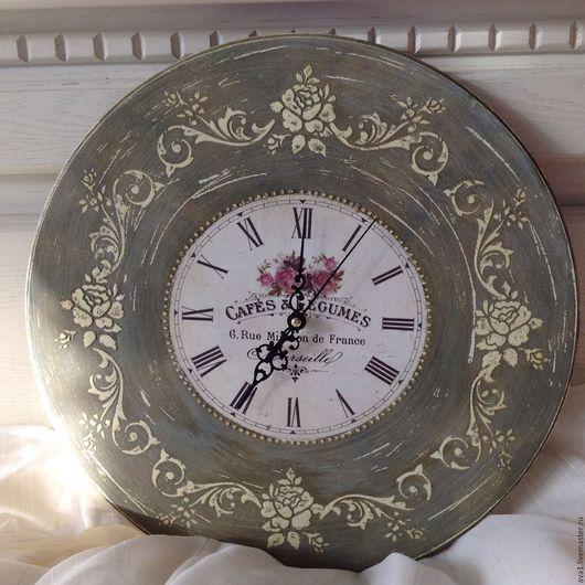 """Кухня ручной работы. Ярмарка Мастеров - ручная работа. Купить Набор для кухни """"Прованс"""" часы и салфетница. Handmade. Подарок"""