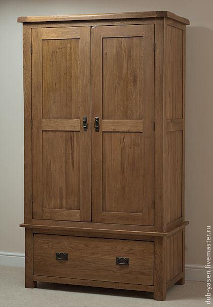 """Мебель ручной работы. Ярмарка Мастеров - ручная работа. Купить Шкаф из дуба """"Шале"""". Handmade. Коричневый, деревянный шкаф"""