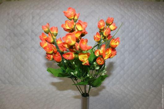 Материалы для флористики ручной работы. Ярмарка Мастеров - ручная работа. Купить Букет крокусов желто-оранжевых. Handmade. Искусственные цветы