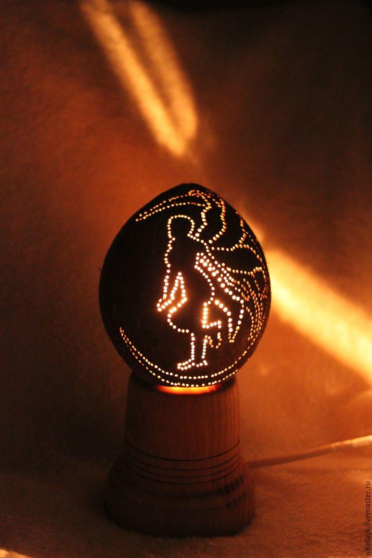 """Медитация ручной работы. Ярмарка Мастеров - ручная работа. Купить Светильник """"Фея"""" фигурный. Handmade. Фея, подарок, лампочка, резное"""