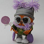 Мягкие игрушки ручной работы. Ярмарка Мастеров - ручная работа Сова-модница. Handmade.