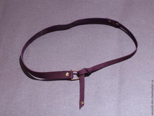 Пояса, ремни ручной работы. Ярмарка Мастеров - ручная работа. Купить Ремень фиолетовый 60-105 см. Handmade.