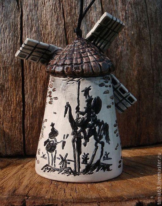 """Колокольчики ручной работы. Ярмарка Мастеров - ручная работа. Купить Колокольчик """"Старая мельница"""". Handmade. Чёрно-белый, колокольчик"""